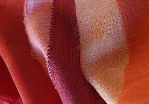 Madder on on wool/silk fabric