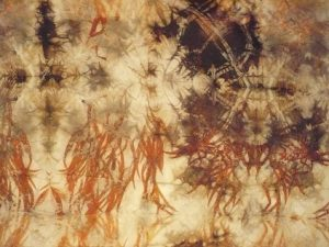 India Flint dyed silk at From the Earth, Mardleybury Gallery  June 2016