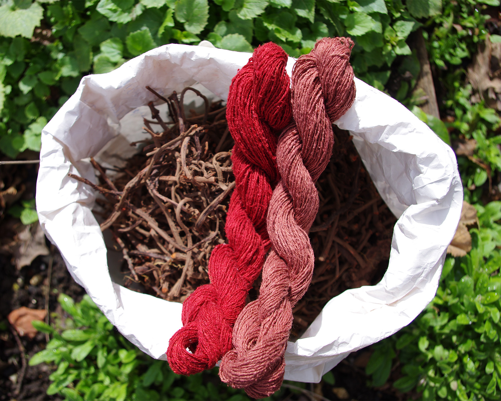 Ethel Mairet project silk skeins Madder Recipe 7