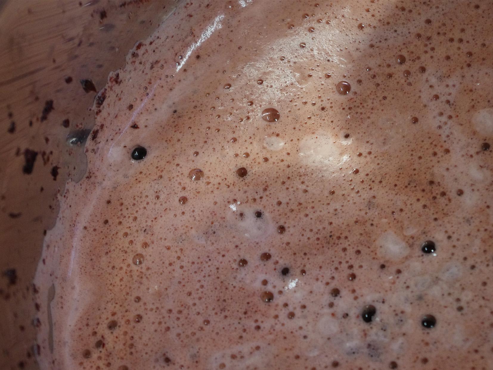 madder foam in dyebath low temperature