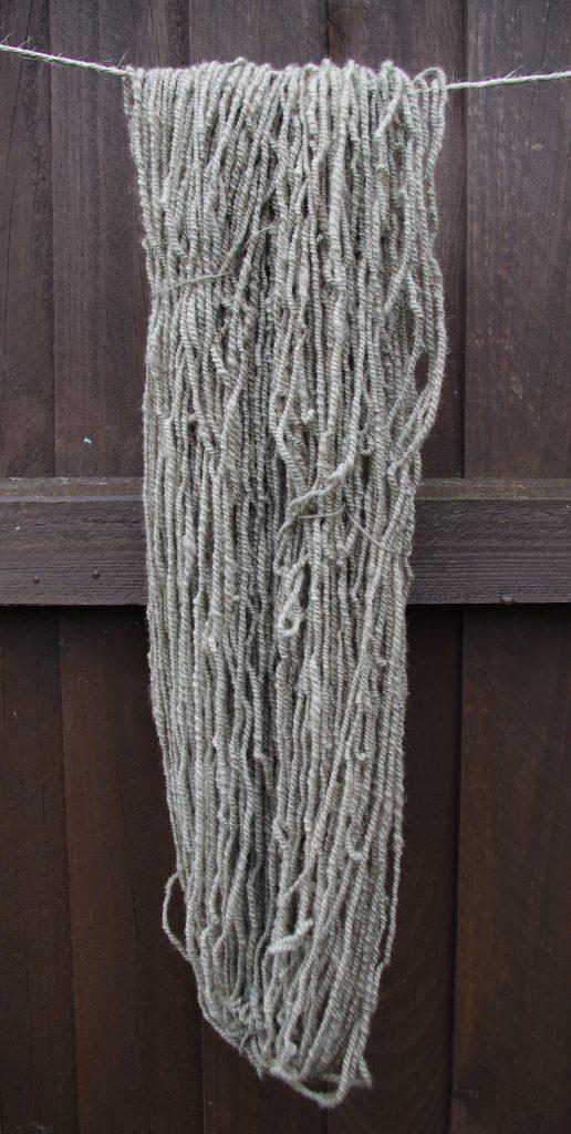 Inula helenium dyed wool