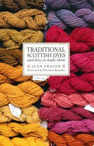 Front cover illustration showing plant dyed yarns