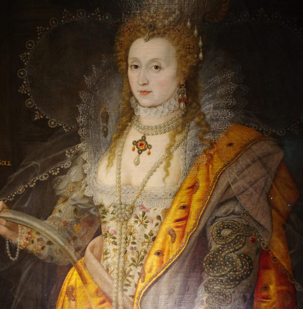 Portrait of Elizabeth 1st wearing a similar dress