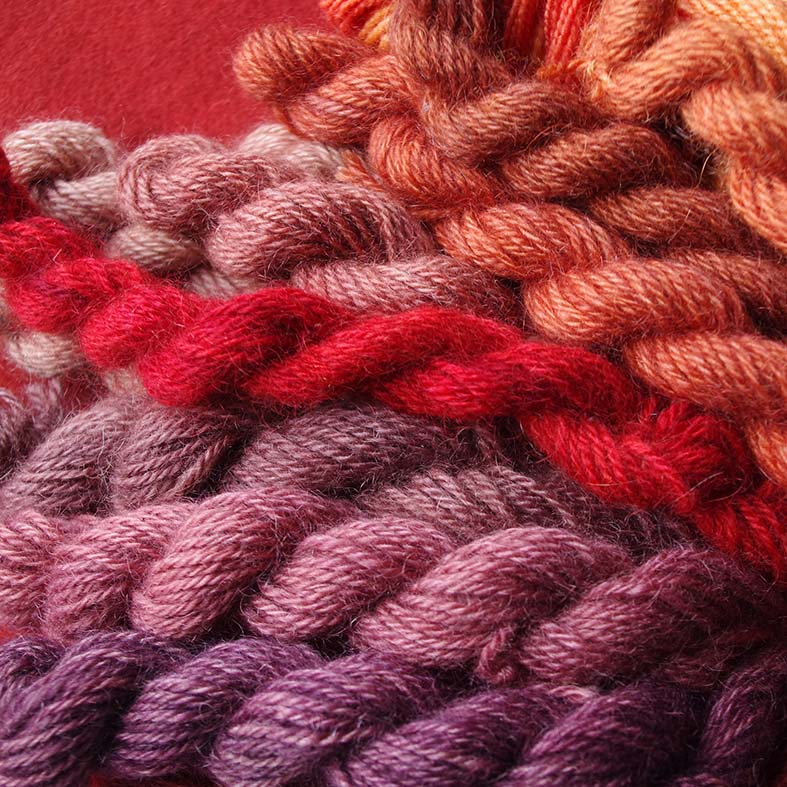 Madder dye variation by mordant and modifier