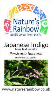 Japanese Indigo Long leaf seedpacket