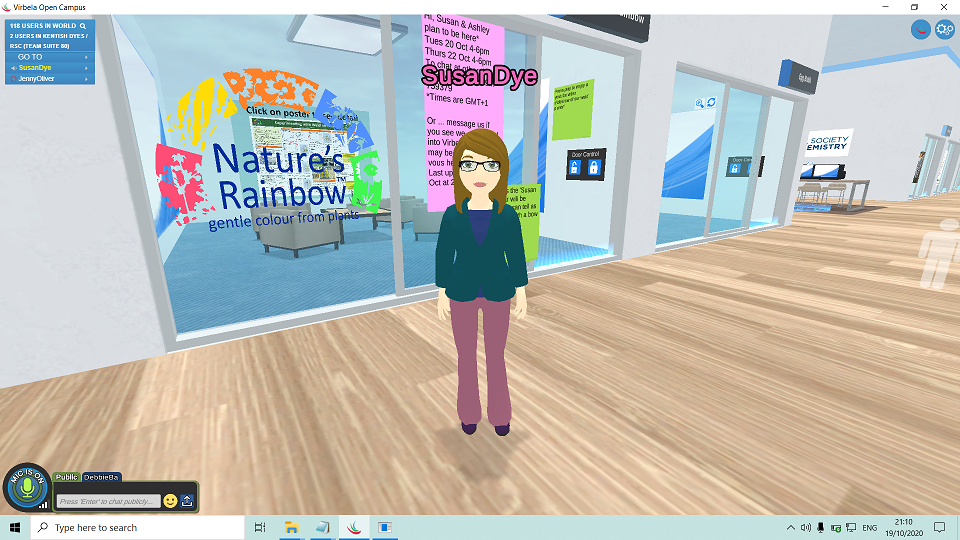 Natures Rainbow kiosk at Biodyes Interface Conference